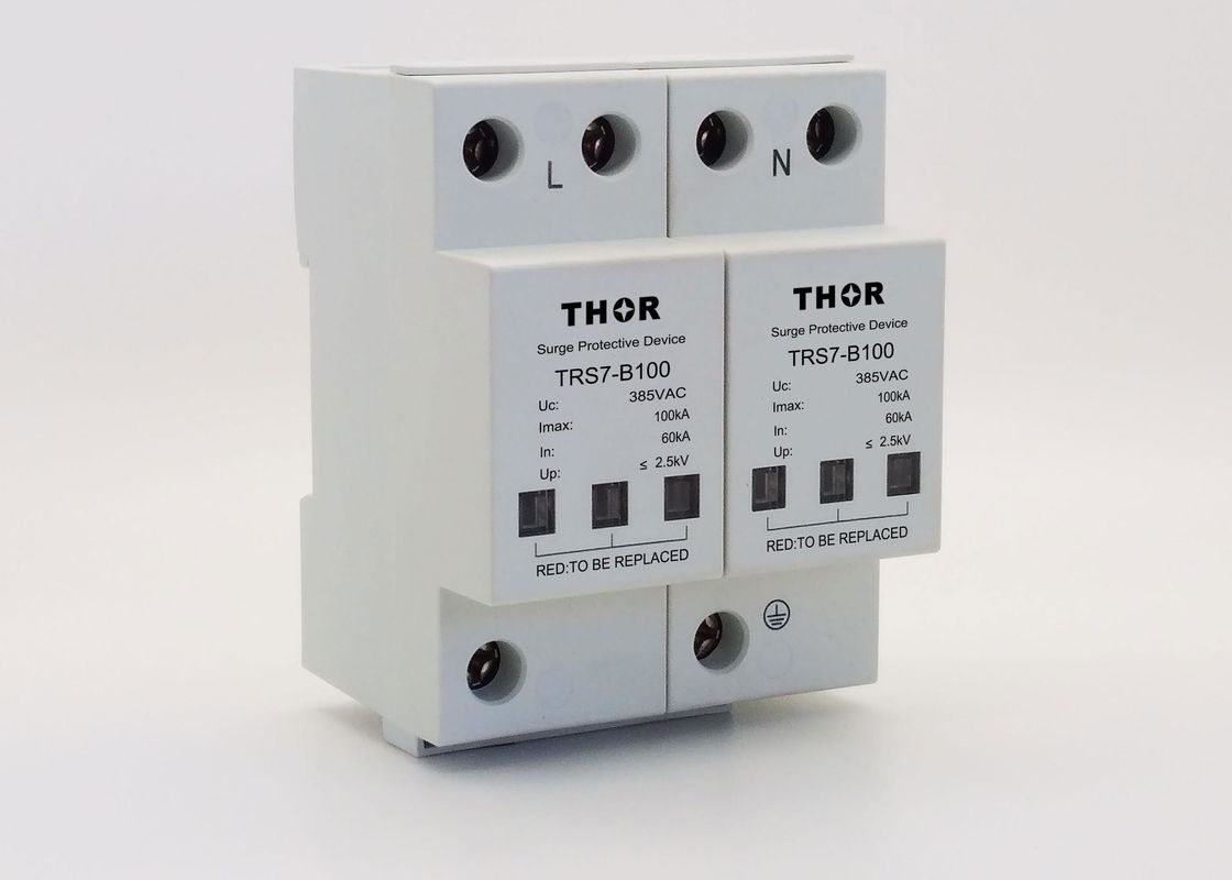 High Standard Lightning Proof Surge Protector , 100KA Industrial Power Surge Protector