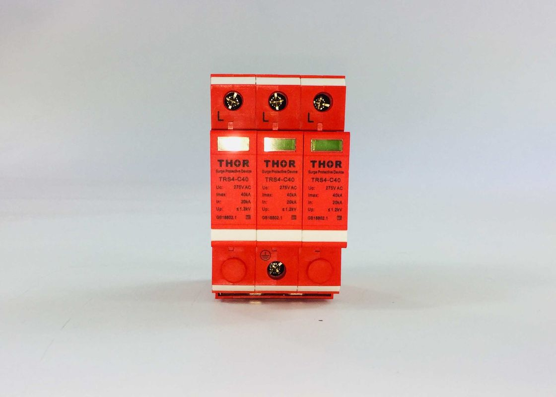 385V 20ka ~ 40ka Type 2 Surge Protection Device Built - In Thermal Protection Durable