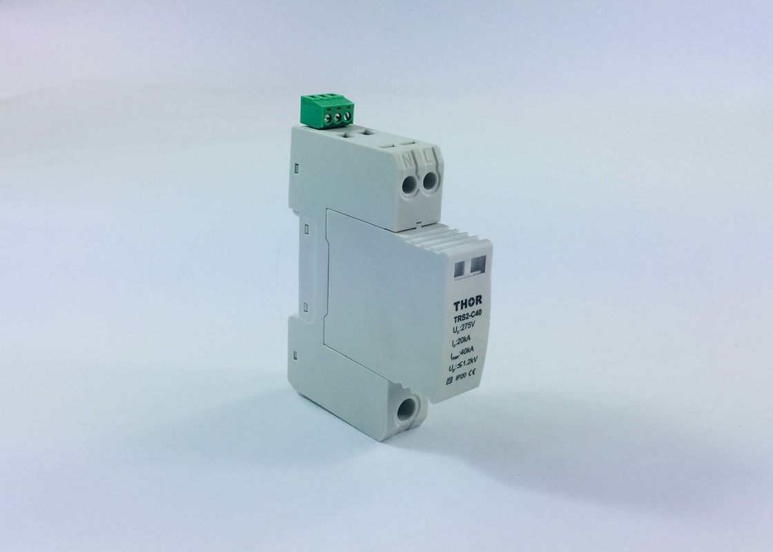 SPD Single Phase Surge Arrester , 275V 3KA Electrical Surge Protectors Long Service Time