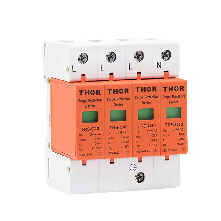 40KA power surge protector three phase SPD c40 surge protective device